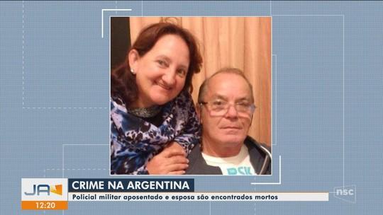 Policial aposentado da PMSC e mulher são encontrados mortos na Argentina