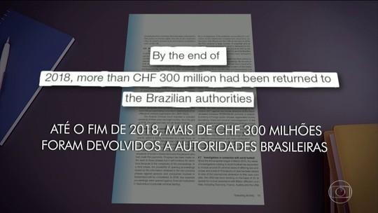 Suíça já devolveu ao Brasil mais de R$ 1 bilhão apreendidos pela Lava-Jato