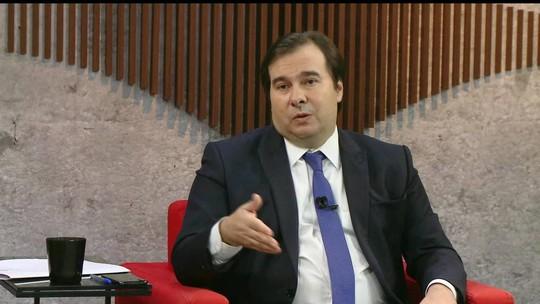 Maia troca mensagens com Bolsonaro: 'Ele disse 'te amo''