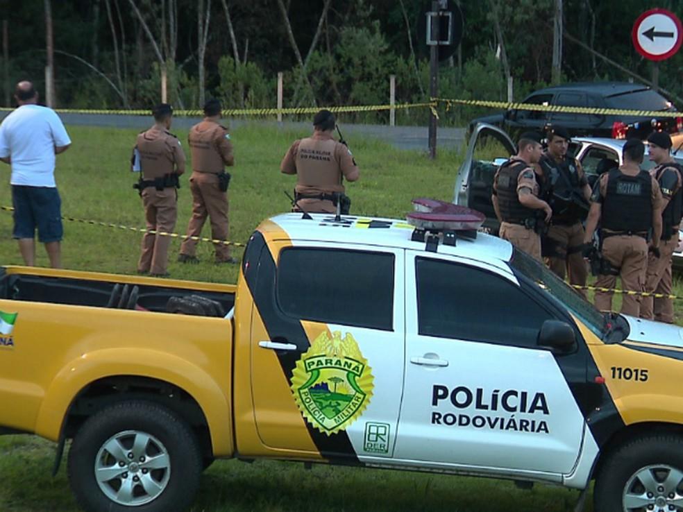 Confronto foi registrado em Quatro Barras por volta das 18h30 de domingo (11) (Foto: Reprodução/RPC)