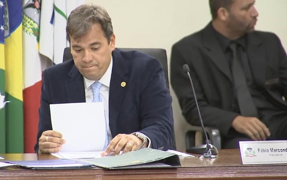 TRE negou recurso do vereador Fábio Marcondes (PR) (Foto: Reprodução/TV TEM)