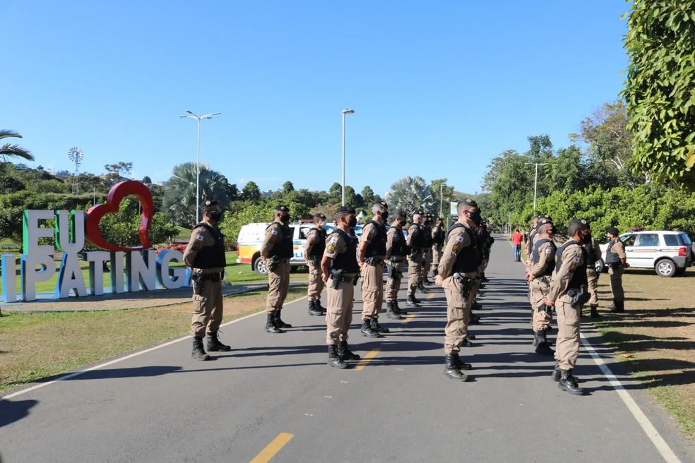 Em Ipatinga, Operação Alferes foi lançada no Parque Ipanema — Foto: Polícia Militar/Divulgação