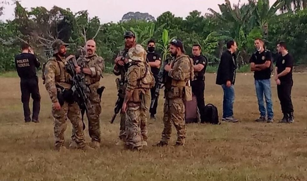 Polícia Federal enviou equipes a Nova Olinda do Norte. — Foto: Divulgação