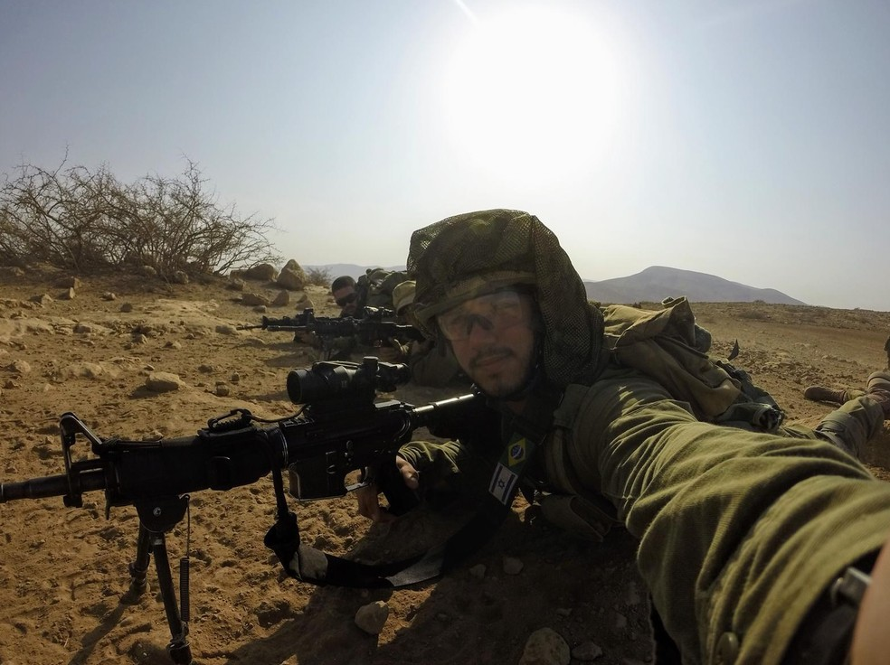 """Antes do ingresso definitivo no Exército, paraense passou pela """"academia"""" israelense — Foto: Arquivo Pessoal"""