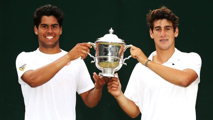 Marcelo Zormann e Orlando Luz Wimbledon (Foto: Getty Images)