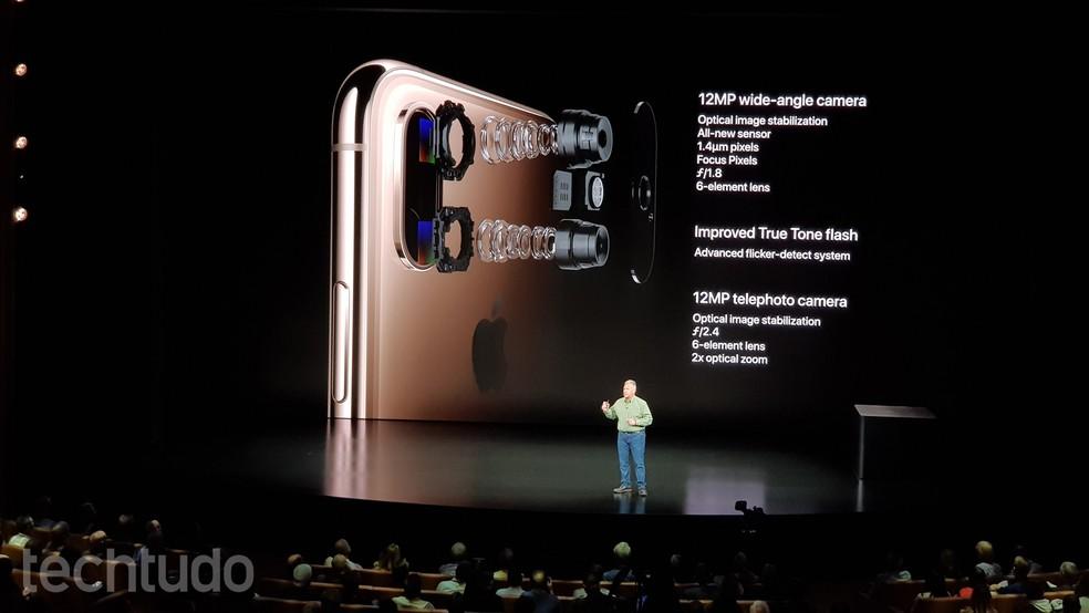 Detalhes da câmera do iPhone XS �- Foto: Thássius Veloso / TechTudo