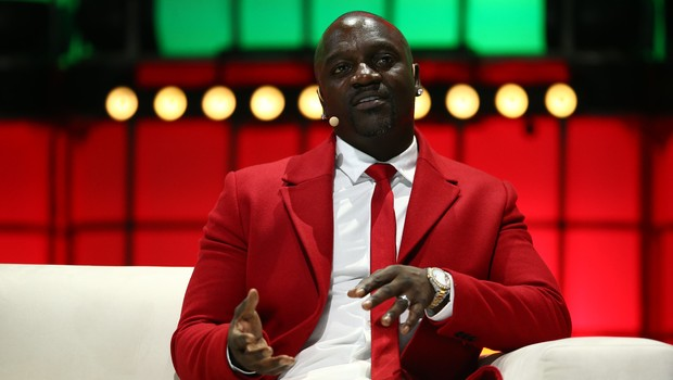 Akon, cantor, produtor e empresário, durante o Web Summit 2019 (Foto: Vaughn RidleyWeb Summit via Sportsfile)