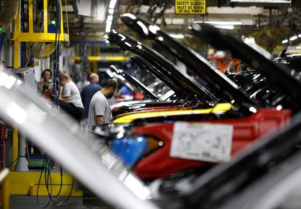 Fábrica da Ford nos EUA (Foto: Bill Pugliano/Getty Images)