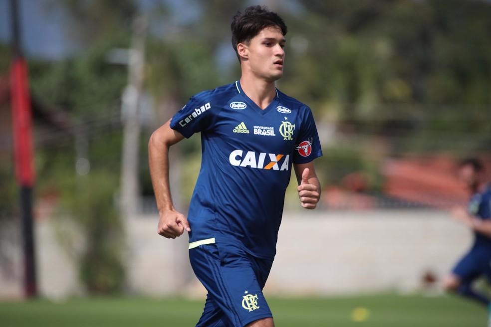 Matheus Thuler, do sub-20 e de 18 anos, pode ter chance contra o Paraná (Foto: Gilvan de Souza/Flamengo)
