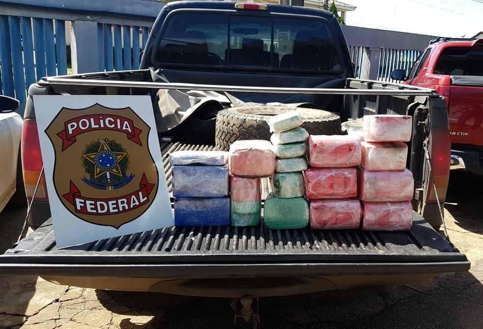 No total foram apreendidos 51kg de cocaína — Foto: Polícia Federal/ Divulgação