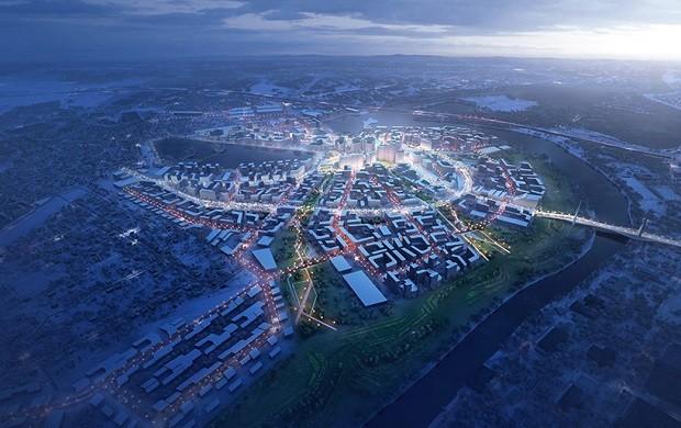 Moscou ganhará novo bairro sustentável (Foto: Divulgação)