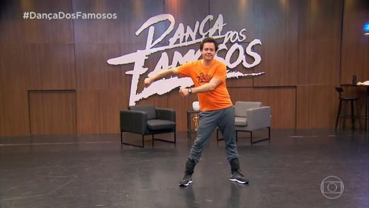 Danton Mello faz 'floss dance' durante ensaios do 'Dança dos Famosos'
