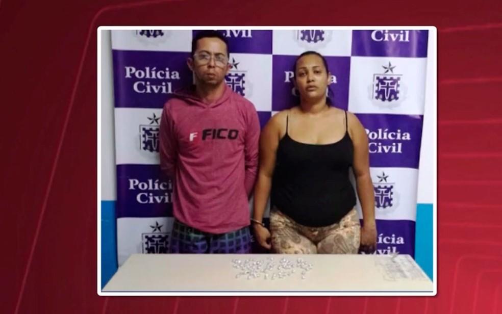 Casal tinha passagem pela polícia por tráfico de drogas (Foto: Reprodução / TV Subaé)