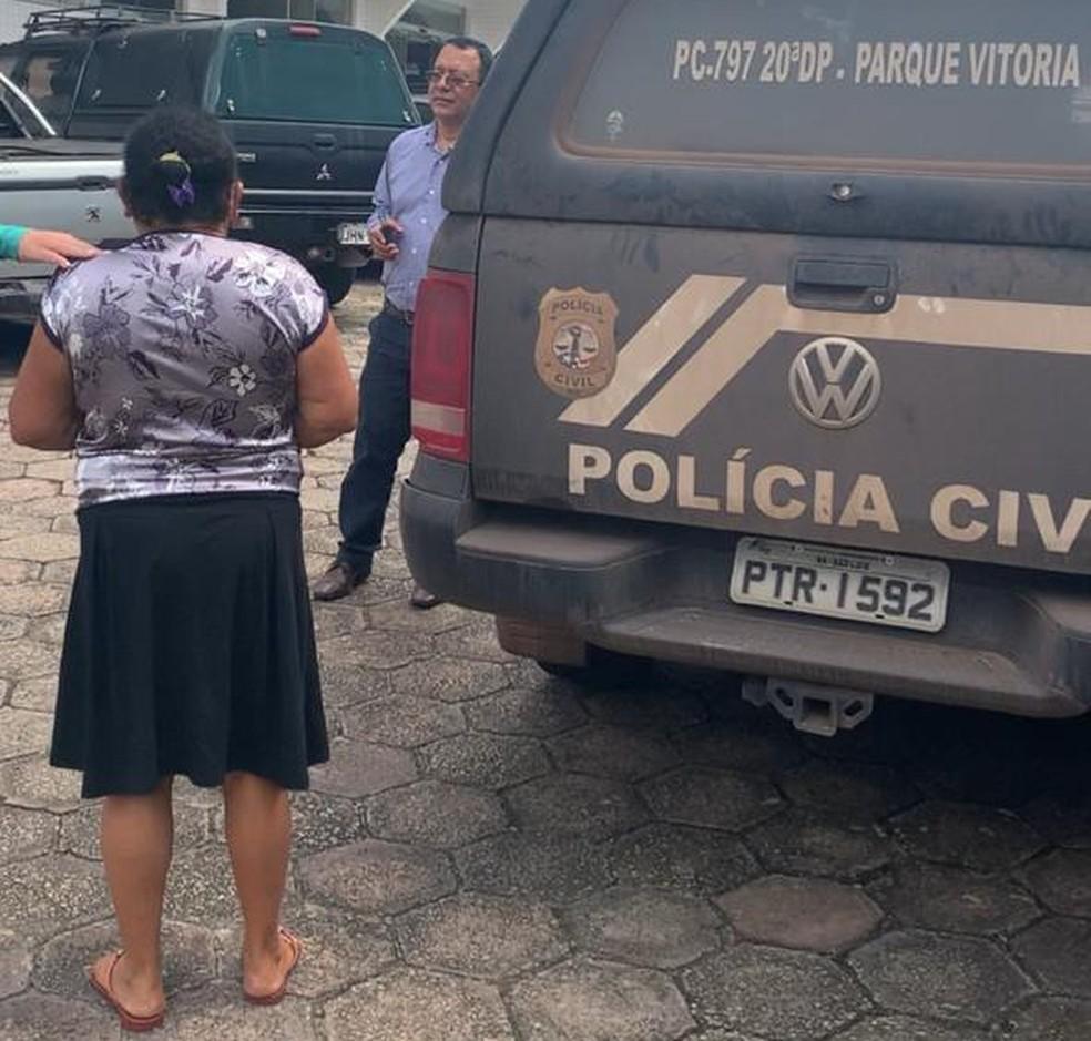 Idosa é presa por fraude em saques bancários na cidade de Chapadinha. — Foto: Divulgação.