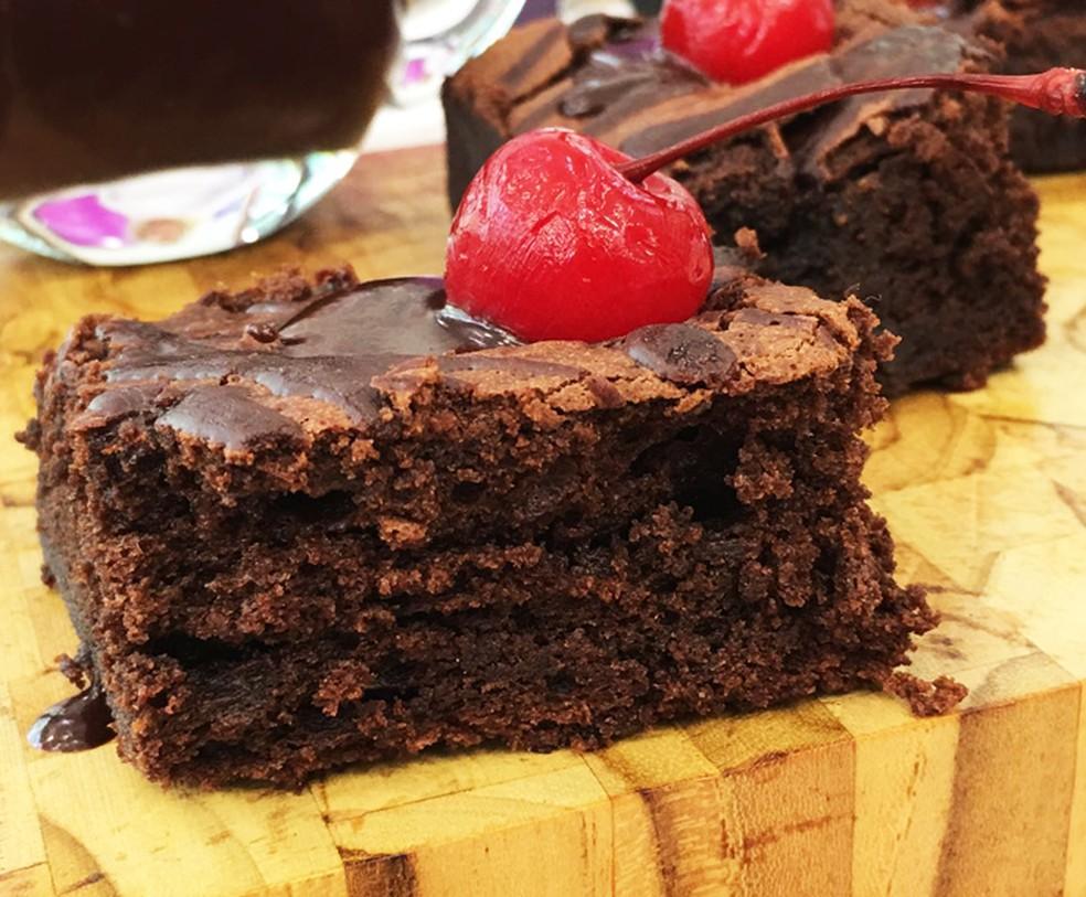 Brownie de Chocolate Furadinho — Foto: Daniela Meira/TV Globo