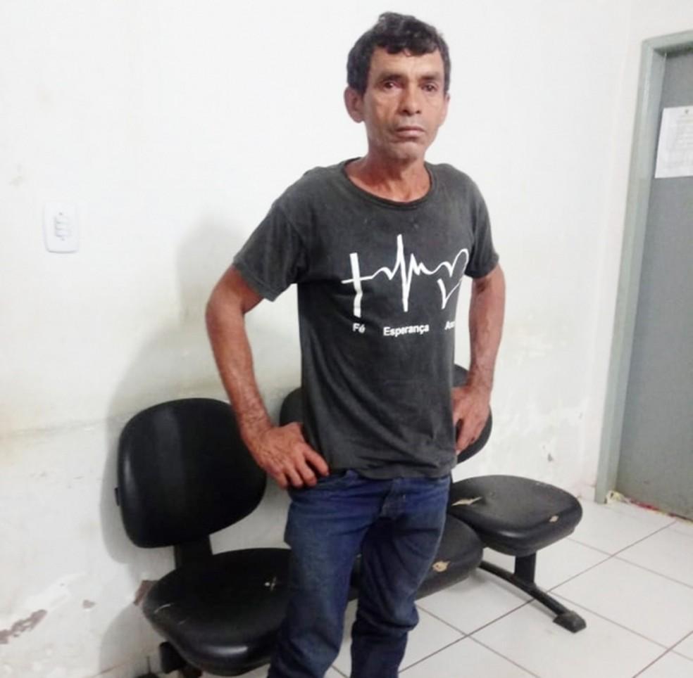 Juraci Nascimento Gomes foi preso e levado para Delegacia Regional de Açailândia — Foto: Divulgação/Polícia