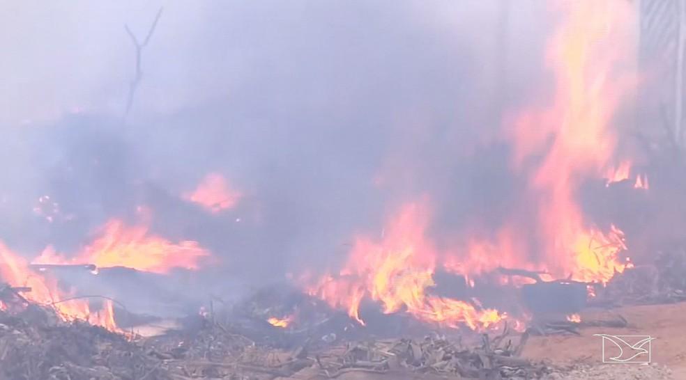 Balsas possui o maior número de focos de queimadas no Maranhão, diz Inpe (Foto: Reprodução/TV Mirante)