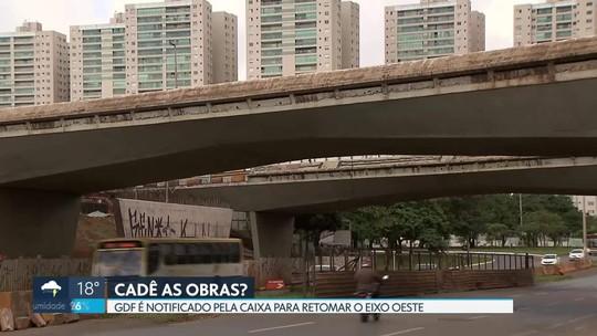 Caixa Econômica notifica governo do DF para concluir obras do Eixo Oeste