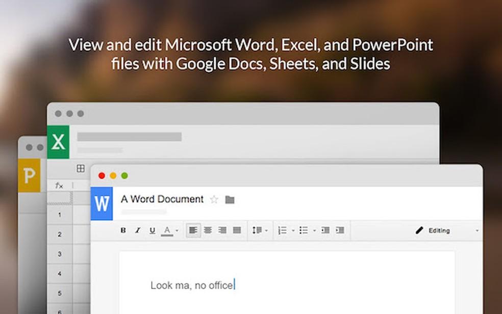 O Google Docs é o editor de texto disponível no serviço de armazenamento de arquivos na nuvem — Foto: Divulgação
