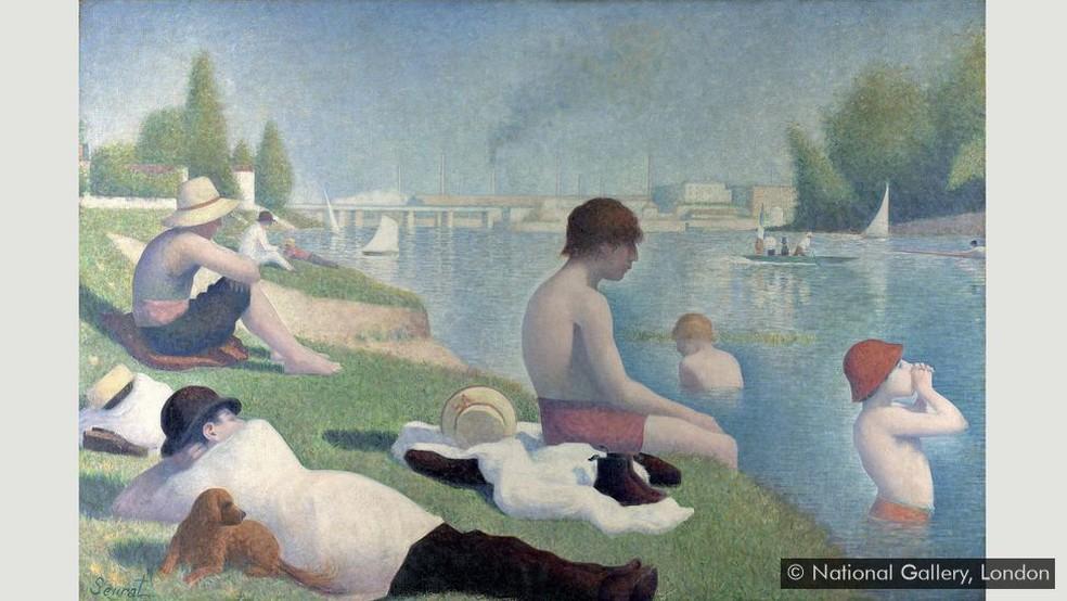 'Um banho em Asnières' — Foto: National Gallery, Londres