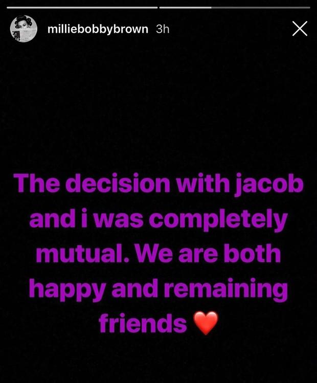 Jacob Sartorius e Millie Bobby Brown terminaram (Foto: Reprodução Instagram)