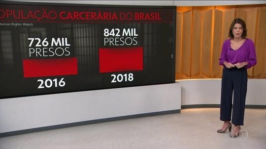 Brasil enfrenta superlotação de prisões e epidemia de violência doméstica, diz ONG