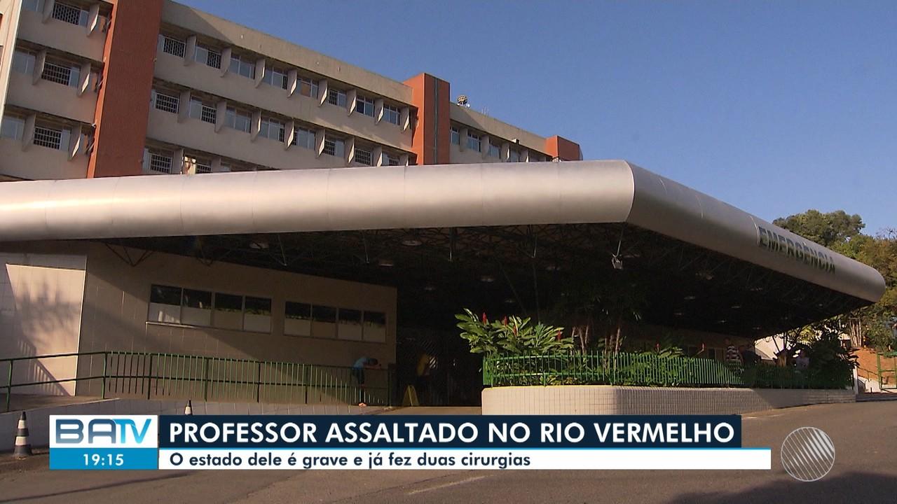 Em estado grave, professor baleado durante assalto no Rio Vermelho passa por 2 cirurgias