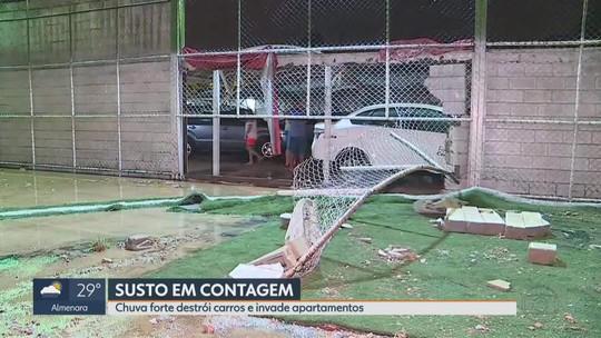 Defesa Civil registrou 77 mm de chuva em 40 minutos na região do Riacho das Pedras, em Contagem