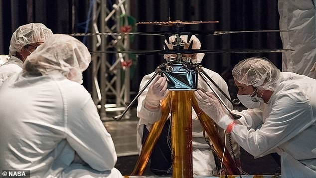 Cientistas realizam testes para enviar helicóptero à Marte  (Foto: NASA/JPL-Caltech)