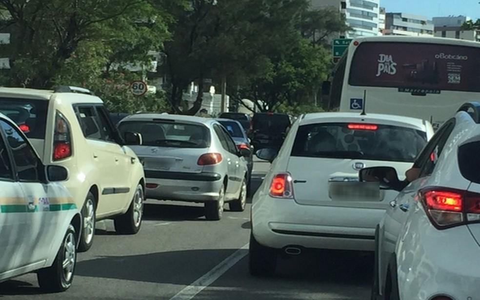 Trânsito em Aracaju — Foto: Joelma Gonçalves/G1/Arquivo