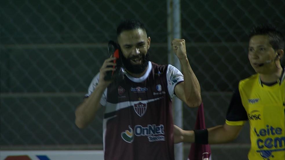 Paulo Renê tem cinco gols no Campeonato Mineiro — Foto: Reprodução Premiere
