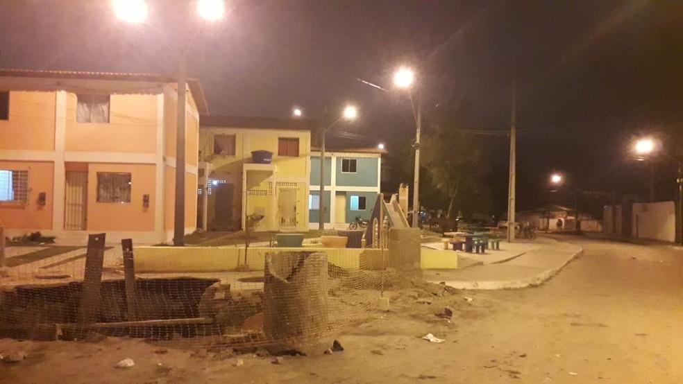 Praça onde aconteceu o crime fica em Campo Grande, na Zona Norte do Recife  — Foto: San Costa/TV Globo