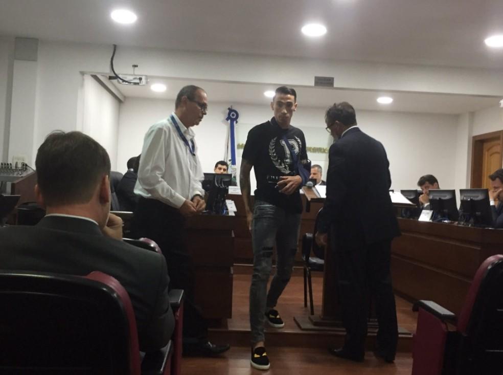 Rildo acompanhou julgamento e deu depoimento no TJD-RJ (Foto: Fred Huber/GloboEsporte.com)