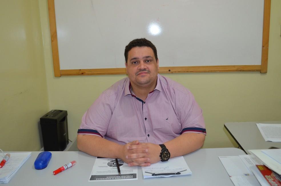 Thiago Tezzari, secretário da PPP, em Porto Velho fala sobre ações (Foto: Hosana Morais/G1)