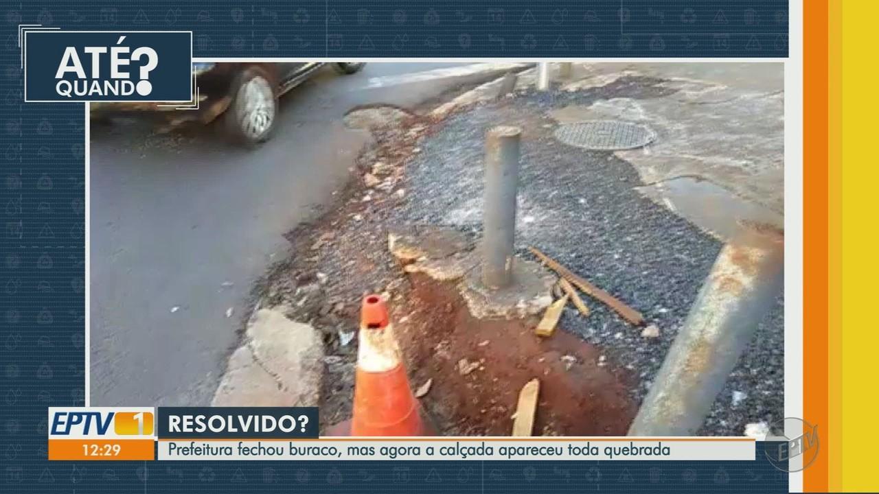 Prefeitura fecha buraco na Avenida Dom Pedro, em Ribeirão Preto