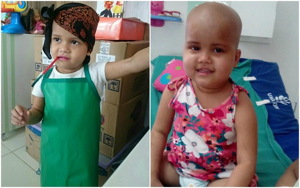Débora foi diagosticada com leucemia aos cinco meses de vida e a luta durou por mais de três anos  (Foto: Arquivo pessoal)