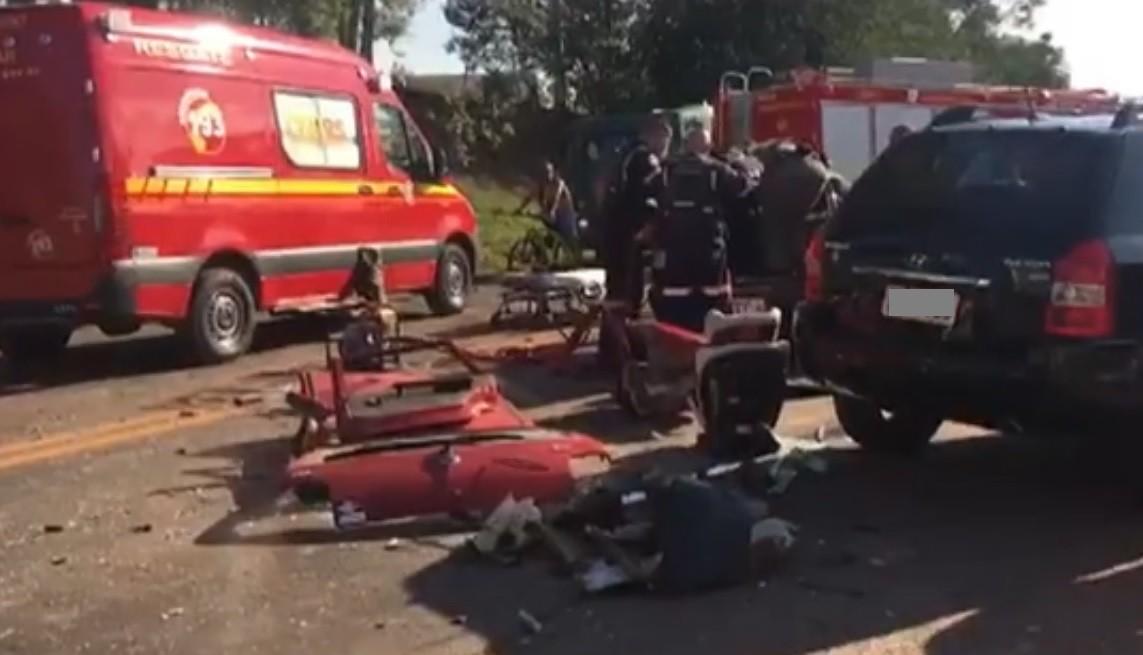 Mãe e filha ficam feridas em acidente na BR-386, em Lajeado