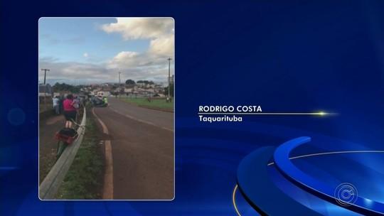 Ciclista morre ao ser atropelado por carro em rodovia de Taquarituba