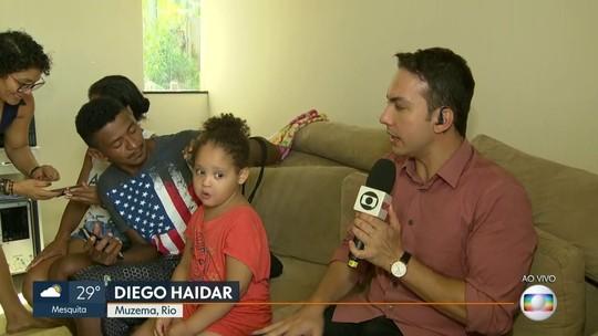 Menina de 4 anos sobrevive; pai, mãe e irmão são procurados