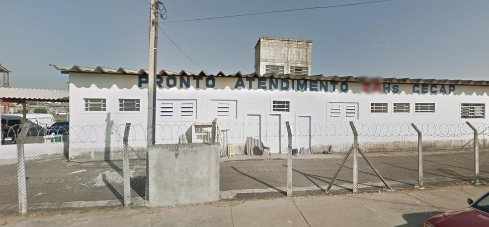 Jovem foi levado para a UPA do Cecap, em Taubaté , mas morreu no local — Foto: Reprodução/ Street View