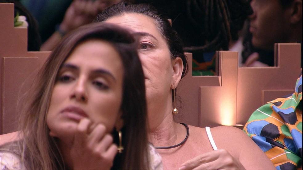 Tereza revelou o voto em Rízia — Foto: TV Globo