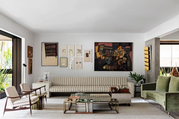 Um apartamento em São Paulo com cara de galeria de arte (Foto: Fran Parente)