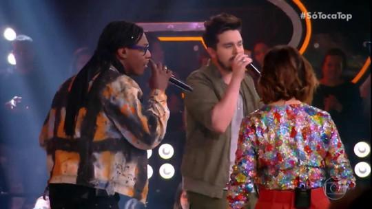 Luan Santana e MC Kekel cantam música inédita no 'SóTocaTop'
