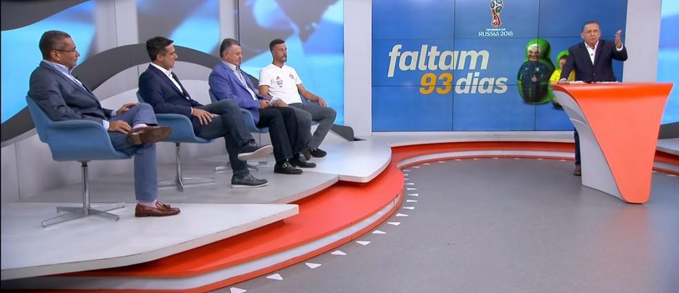 Galvão Bueno e convidados falam sobre convocação da Seleção de Tite (Foto: Reprodução)