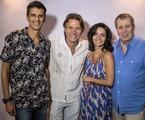 Daniel Filho posa com Alonso Barros, Claudia Ohana e Nelson Freitas | Divulgação