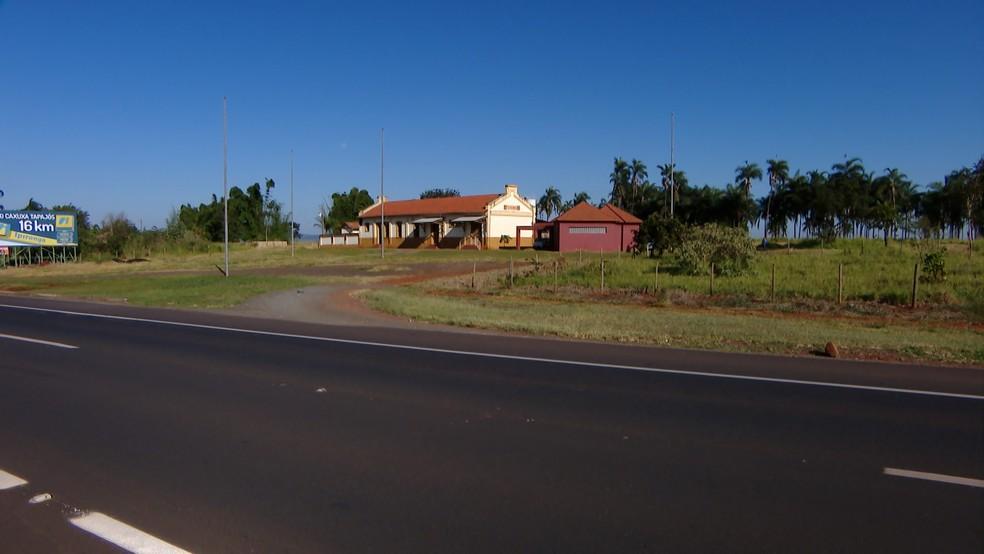 -  Estação Stevenson em Araguari não foi inaugurada por problemas com acesso ao local  Foto: TV Integração/ Reprodução