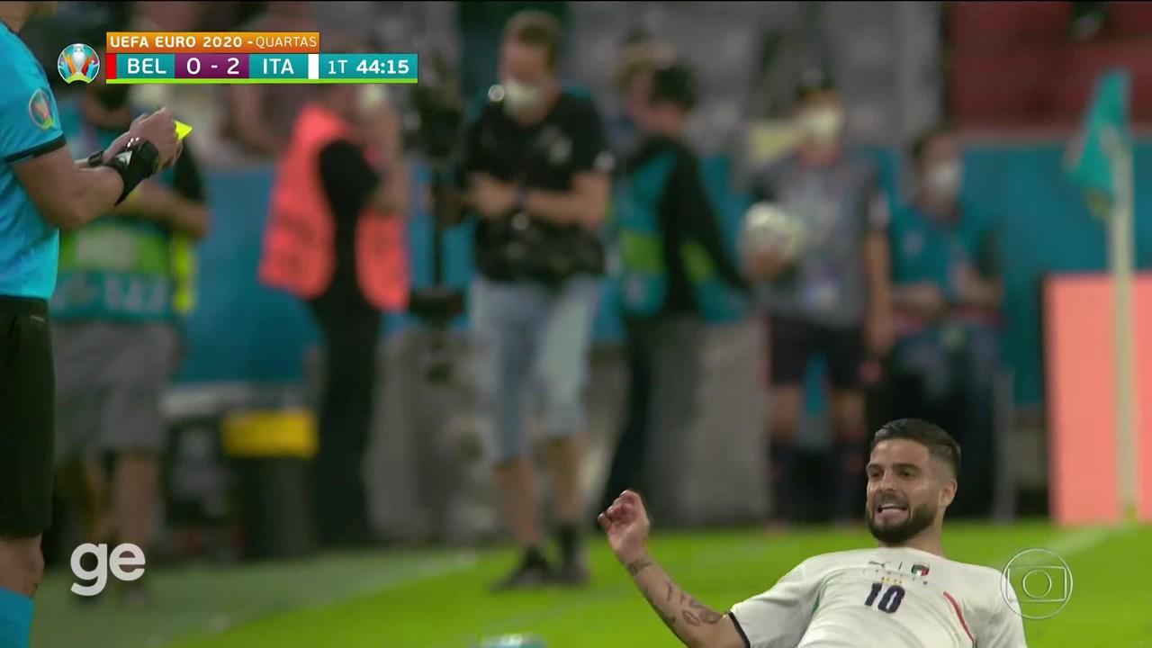 Gol de Insigne! Itália 2 x 0 Bélgica nas quartas (placar final: 2 a 1)
