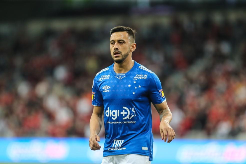 Robinho no Cruzeiro em 2019 — Foto: Geraldo Bubniak / Light Press