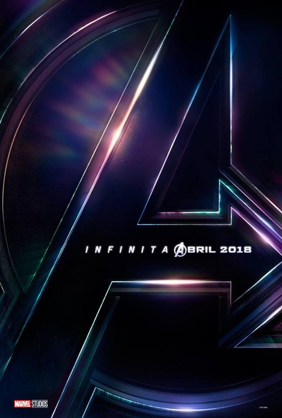 Primeiro pôster de 'Vingadores: Guerra infinita' (Foto: Divulgação/Marvel)
