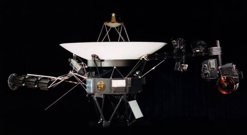 Modelo de engenharia da Voyager 1 em exposição — Foto: JPL-NASA